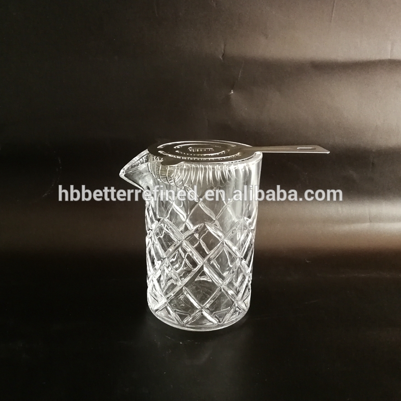Large Yarai Mixing Pitcher With Strainer