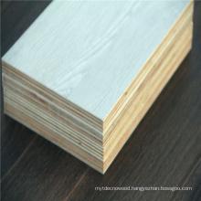 Interior furniture 1220*2440mm white melamine laminated plywood