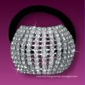 fashion metal silver plated crystal bridal hair band