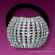 Moda de metal prata banhado a banda de cristal do cabelo nupcial