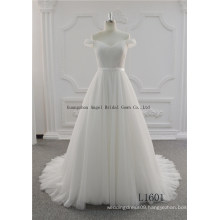 with Lace Applique A Line off Shoulder Prince Wedding Dress