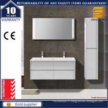 Cabinet de salle de bain blanc aménagé à la pièce de 48 '' pour projet d'hôtel
