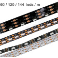 Nueva llegada popular 12 mm ancho 64LEDs / m sk6812 4020 de emisión lateral direccionable rgb digital led pixel flexible strips