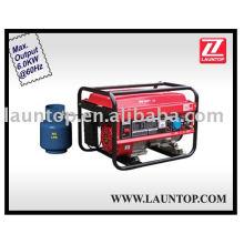 GPL gerador / gerador de gasolina 6kw LPG6500