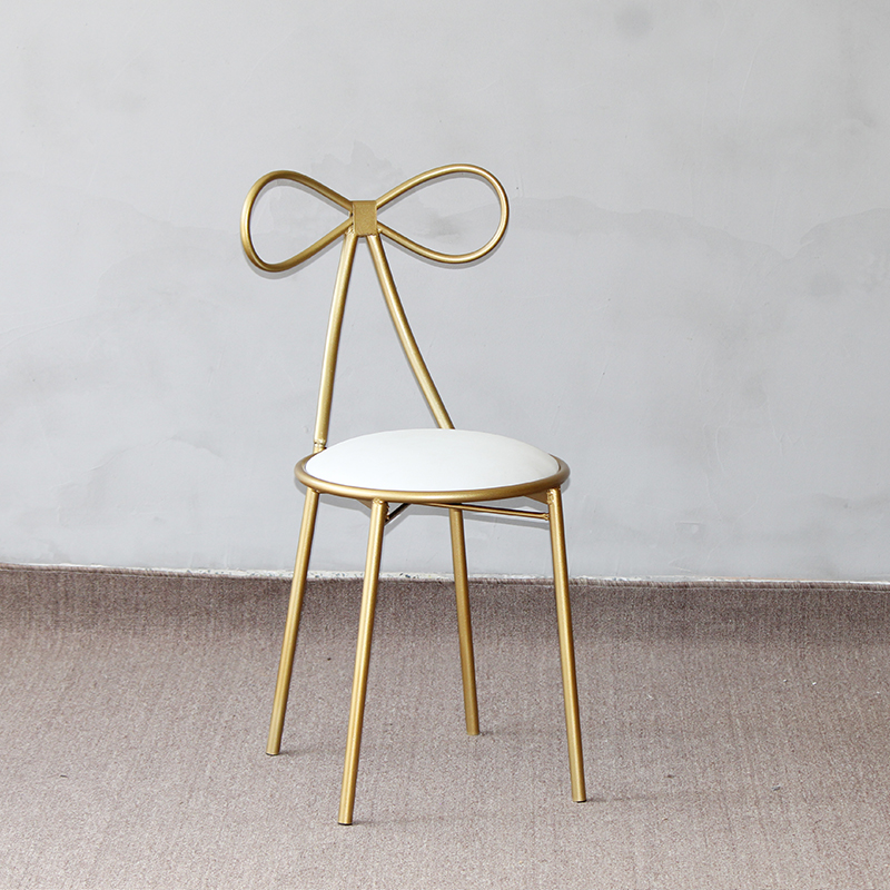 gold stainless steel chair
