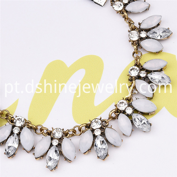 Flower Crystal Pendant Women Necklace
