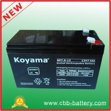 Bateria recarregável AGM 12V7.5ah com ácido de chumbo SLA VRLA PV 12V