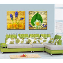 Living Room Decor Flower Painting Canvas Art With Stretched Ready yo Hang on Wall