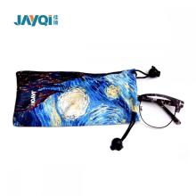 Custom Silk Screen Printed Microfiber Glasses Bag