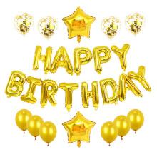 Superstarer Birthday Aluminum Film Balloon Package Birthday Party Background Decoration Letter Set