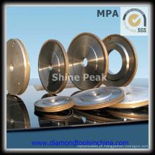 Rodas de moedura do diamante liso para o carboneto de tungstênio