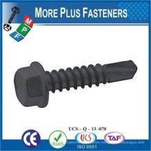 Made in Taiwan Sell on Alibaba Carbon Steel Custom Made Black Self -Drilling Screw