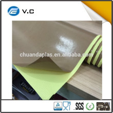 China bajo precio de alta temperatura de resistencia marrón teflón adhesivo cintas de tela con el trazador de líneas amarillo