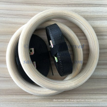 Wholesale 236*28mm Beech Crossfit Wooden Gym Ring
