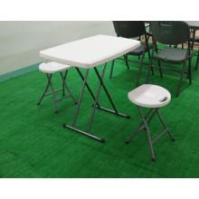 Tabela plástica de plástico ajustável de altura ajustável, mesa de plástico
