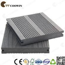 Decking compuesto plástico gris antiséptico de madera, suelo laminado impermeable, piso de cubierta al aire libre