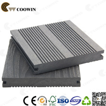 Gray Antiseptic Wood Plastic Composite Decking, Waterproof Laminate Flooring, Outdoor Deck Floor