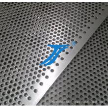 Grillage perforé galvanisé de métal de trou rond, feuille perforée par acier inoxydable