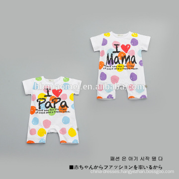 2017 hot sale customized cotton short sleeve baby romper suit