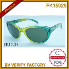 Gafas de sol con marco verde perforación y Noble (FK15028)