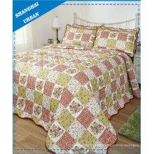 3 unidades de colcha de cama de algodão (conjunto)
