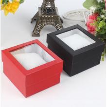 Caixa de relógio clara de empacotamento da exposição do cartão da janela plástica