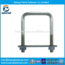 Em estoque fornecedor chinês melhor preço DIN3570 aço carbono / aço inoxidável quadrado u parafusos