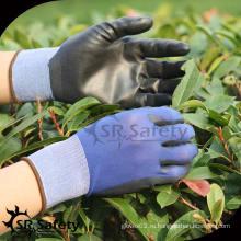 SRSAFETY 18 меховых нейлоновых PU садовых рабочих перчаток / перчатки с PU покрытием