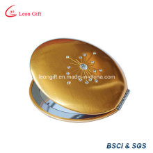 Лучшие продажи красоты золото круглый раскладной зеркало для макияжа