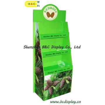 Carrinho de 2016 exposição de papelão venda quente para exposição de assoalho de papelão de produtos agrícolas (B e C-A004)