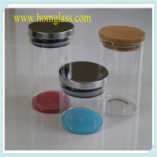 Kitchen Glassware Glass Jar Storage by Heat-Resistant Borosilicate Glass