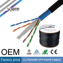 SIPU 2017 ventas calientes 4 Par 0.56 cobre desnudo utp cat6 internet ordenador lan cable exterior cat6