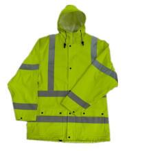 Плащи с капюшоном желтый светоотражающий пу/одежду с полиуретановым покрытием