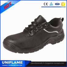 Chaussures noires de travail de sécurité d'orteil de marque de la Chine noire Ufa077