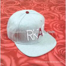 100 algodão twill 3D bordado design snapback chapéu acrílico letras costume BC-0146