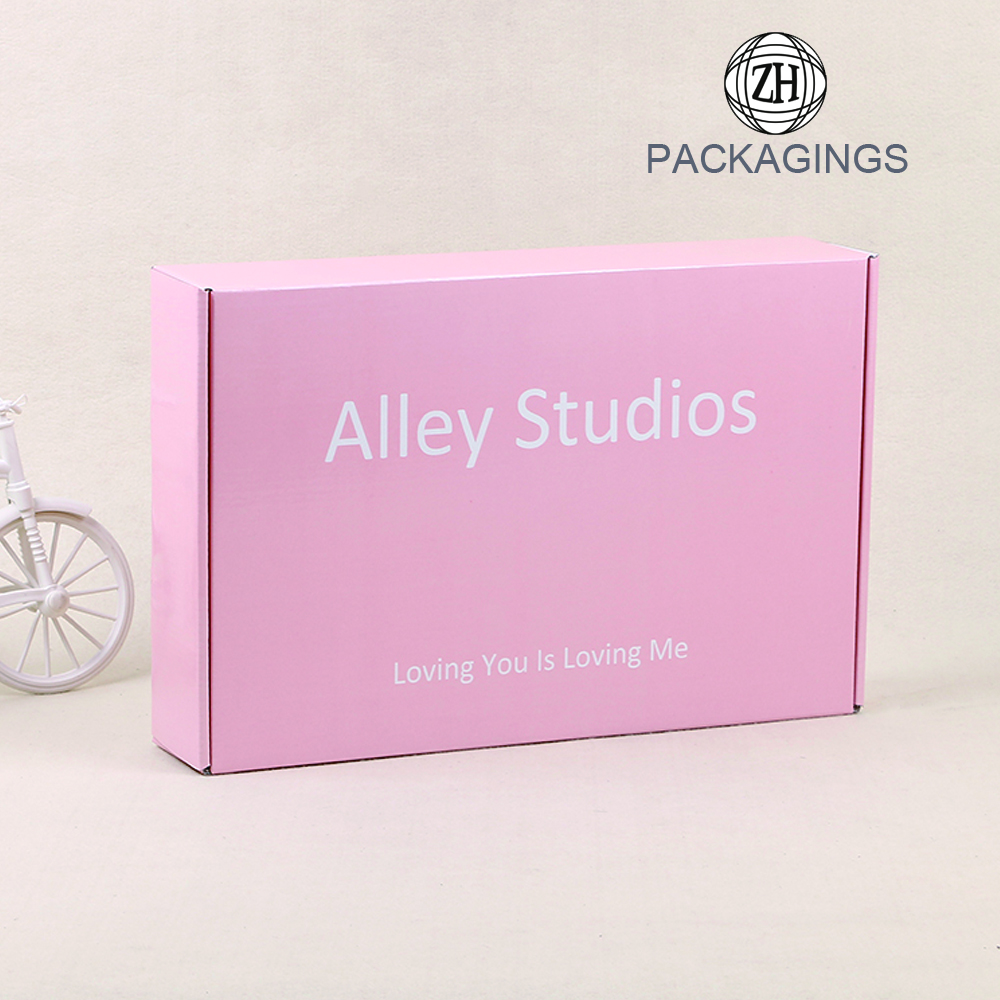 Corrugated carton shipping box/pink mailer box