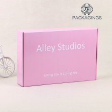 Corrugated+carton+shipping+box%2Fpink+mailer+box