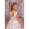 Alibaba Custom made Latest Children A Line Long Beauty Pageant Birthday Lace A Line frock design for Flower Girl Dresses LF44