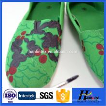 Tela de lona impressa hotsale para sapatos