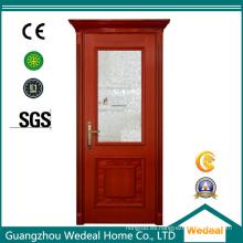 Puerta exterior de madera maciza de fibra de vidrio para hotel