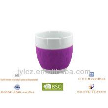 Regalo de cerámica encantador de las tazas de café 350cc fijado para la familia