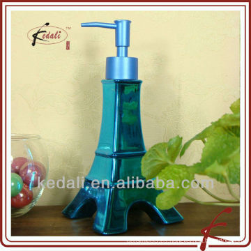 Dispensador decorativo de cerámica hermoso 2011 del jabón del dispensador de la loción del diseño nuevo 2015