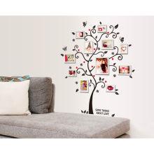 Approvisionnement en usine vente chaude arbre photo cadre autocollant de décoration murale personnalisée