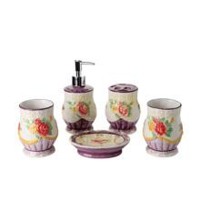 new design  durable ceramic luxury bathroom accessories set