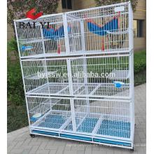 Cage à chat d'approvisionnement direct d'usine de la Chine avec des roues