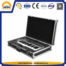 Alta calidad aluminio teclado duro vuelo caso Hf-7001