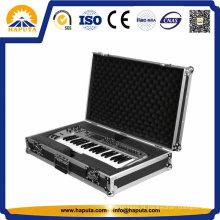 Alta qualidade alumínio teclado duro voo caso Hf-7001