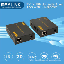 150m HDMI Extender Over Single Cat5/6 Ethernet Cable (IR+HDMI over TCP/IP)