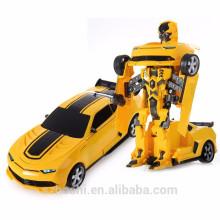JIA QI TTT661 Bumblebee Trooper Fierce Radio Control Deform Robot 2.4G - YELLOW AND BLACK