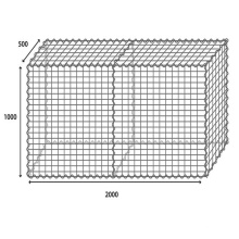Welded Gabion Box Cages Construction Wall Bunnings Gabion Stone Basket 2*1*1m